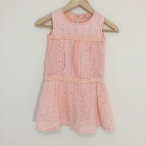 Other - Cute pink girls eyelet lace dress